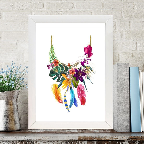 BC489702139 Multicolor Decorative Framed MDF Painting