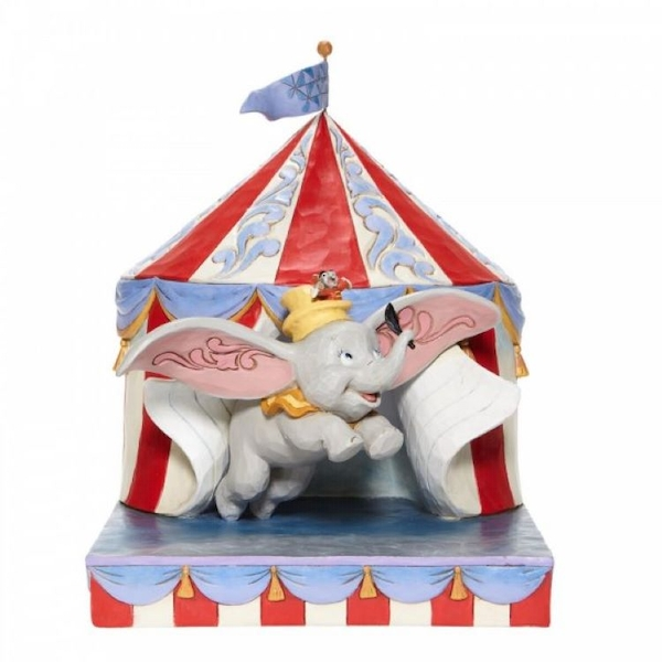 Over the Big Top Dumbo Circus out of Tent Figurine