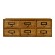 6 Drawer Double Level Small Storage Unit, Trinket Drawers