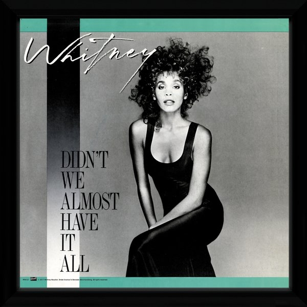 Whitney Houston Didn't We Almost Have It all Framed Album Print