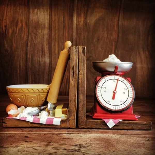 Baking Scales Shelf Tidy Pair Bookends