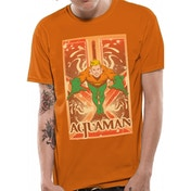 Aquaman - Border Men's Small T-Shirt - Orange