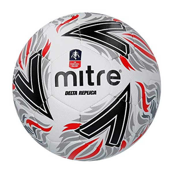 Mitre Unisex's Delta Replica FA Cup Football, Black/Red, 4