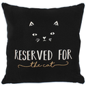Black Reserved for the Cat Cushion