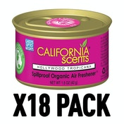 Hollywood Tropicana (Pack Of 18) California Scents Spillproof Organic Canister