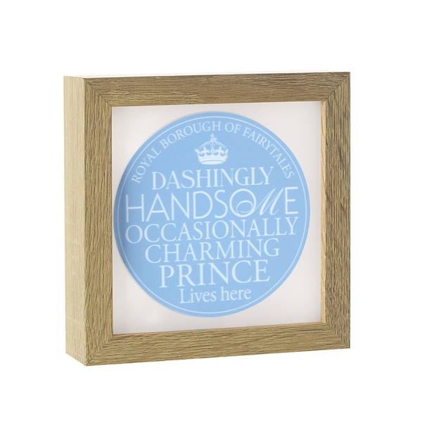 Light Up Frame Charming Prince By Heaven Sends