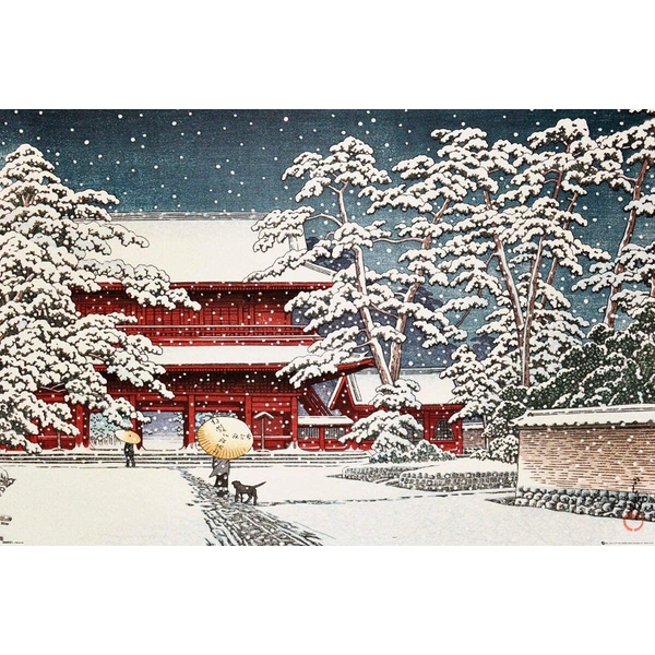 Kawase Zojo Temple in the Snow Maxi poster