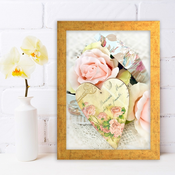AC10139624502 Multicolor Decorative Framed MDF Painting