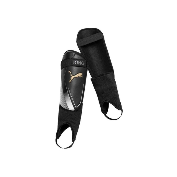 Puma King IS Shin & Ankle Guards Black/Gold - Medium