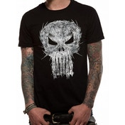 Punisher - Shatter Skull Unisex Small T-Shirt - Black