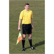 Precision Referees Shorts Black/Yellow 34-36 inch