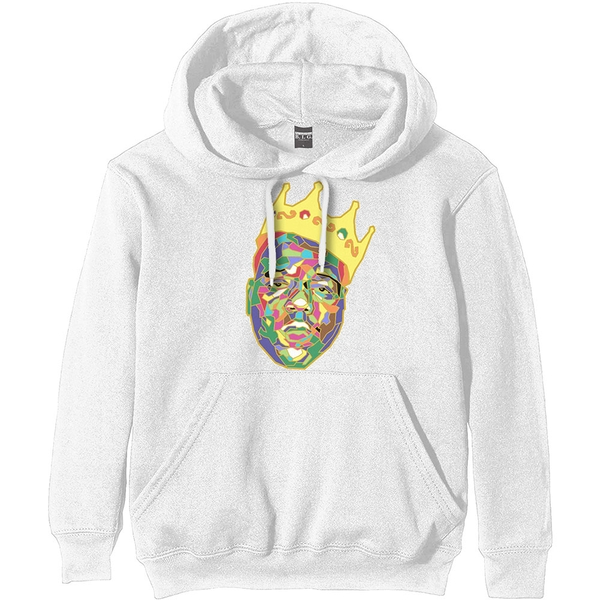 Biggie Smalls - Crown Unisex Large Hoodie - White