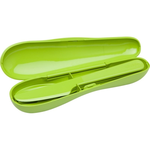 Aladdin Papillon Cutlery Set 3 Pieces with Case Green