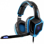 Sades  SA-968 Luna Gaming Headset in Blue Virtual 7.1 Surround Sound