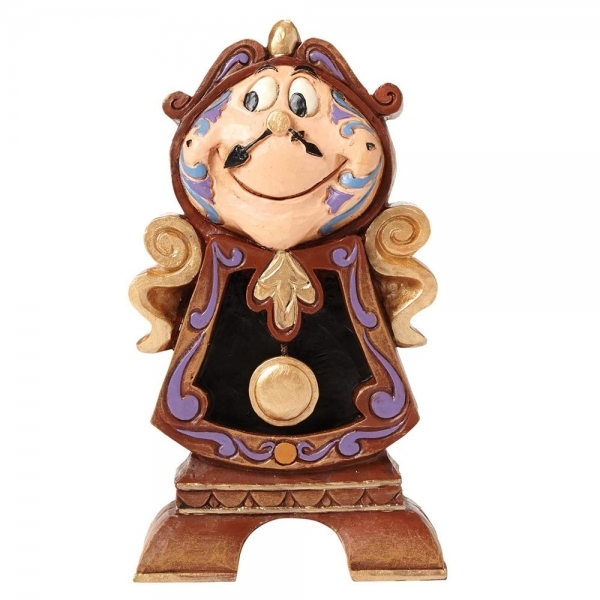 Disney Traditions Keeping Watch Cogsworth Beauty and the Beast Figurine
