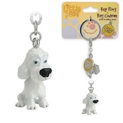 Little Paws Key Ring Poodle White