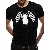 Venom - White Logo Men's Medium T-Shirt - Black