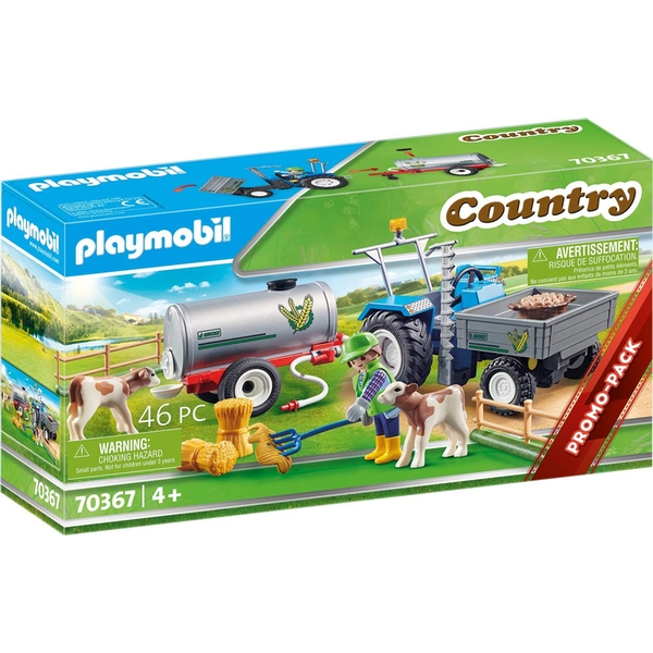 Playmobil Country Promo Loading Tractor with Water Tank Playset