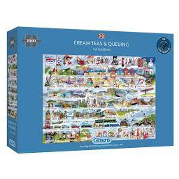 Cream Teas & Queuing Jigsaw Puzzle - 2000 Pieces