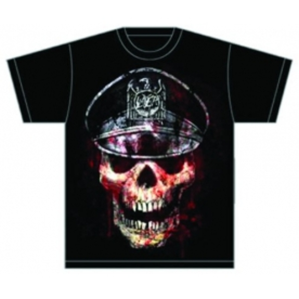 Slayer Skull Hat Mens T Shirt: XXL