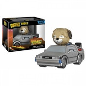 Ex-Display Delorean With Einstein (Back To The Future) Funko Dorbz Vinyl Figure Used - Like New