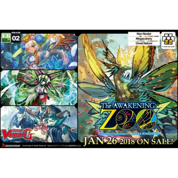 CardFight Vanguard TCG: The Awakening Zoo Extra Booster Box (12 Packs)