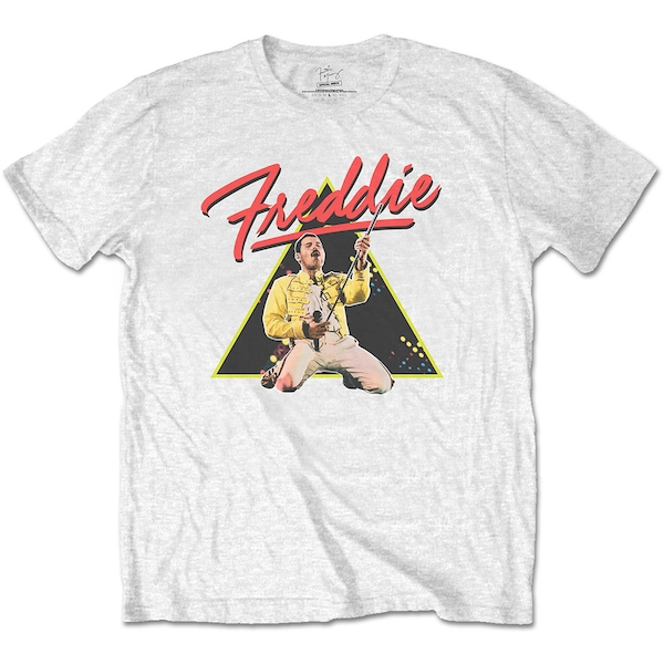 Freddie Mercury - Triangle Men's Medium T-Shirt - White