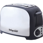 Infapower X553 2 Slice Toaster - Stainless Steel UK Plug