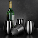 Pack of 4 Stainless Steel Wine Glasses | M&W - Image 3
