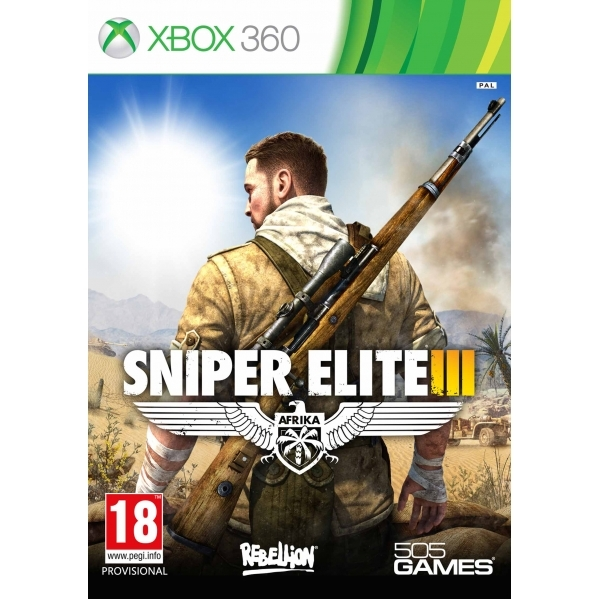 Sniper Elite III 3 with Hunt the Grey Wolf DLC Xbox 360 Game