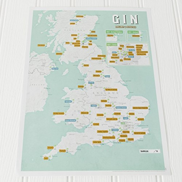 Gin Collect and Scratch Print  2017 Wallchart