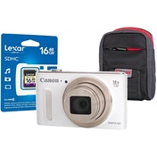 Canon PowerShot SX610 HS White Camera Kit inc 16GB SDHC Class 10 Card & Case