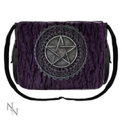 Pentagram Purple Messenger Bag