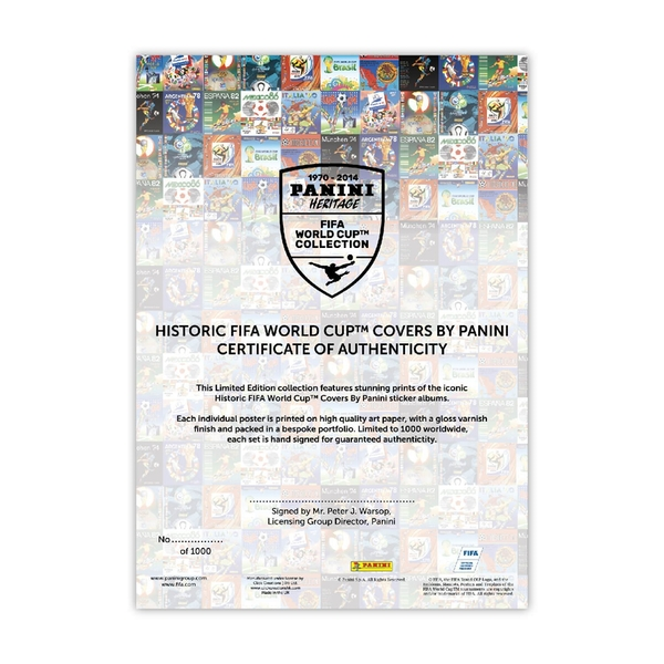 dacd6779d Panini Heritage FIFA World Cup Football Sticker Collection Lithographic  Prints - Limited Edition - Image 3