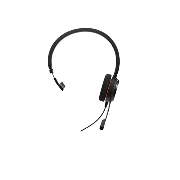 Image of Jabra Evolve Over The Head Supra Aural 20 Wired Mono Headset
