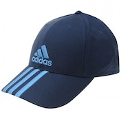 1a489f11188 adidas Perforated 3 Striped Cap Navy S Blue