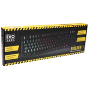 Evo Labs Builder RGB 7 Colour LED USB Gaming Keyboard UK Layout