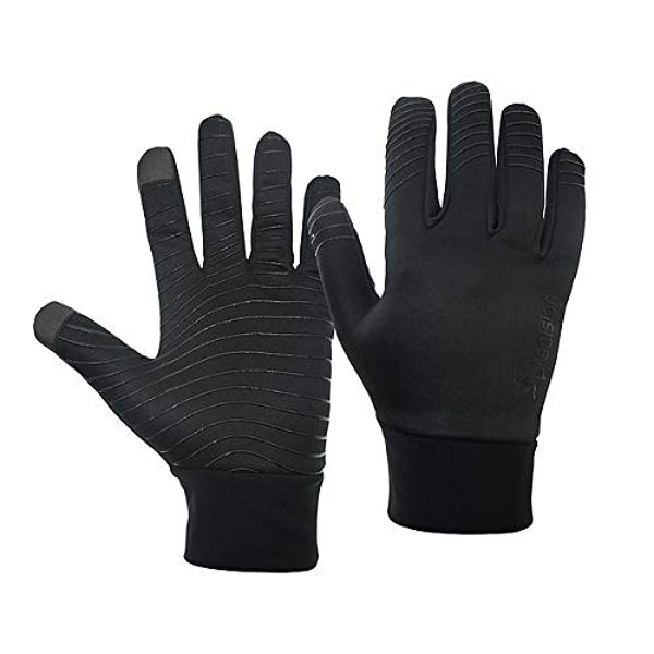 Precision Unisex-Youth Essential Warm Players Gloves, Black, Junior