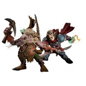 World of Warcraft Series 8 Gnome Rogue Spannercrank vs. Kobold Snassle Figures