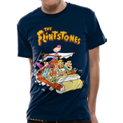 The Flintstones - Car Men's Large T-Shirt - Blue