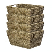 Natural Seagrass Storage Basket | M&W Set of 4