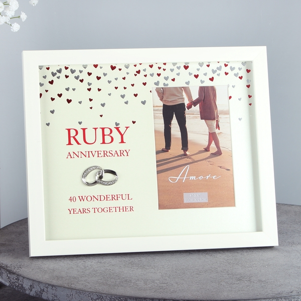 Amore Ruby Anniversary Photo Frame | 4x6