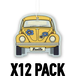 Coconut/Yellow VW Beetle (Pack Of 12) Air Freshener - Image 2