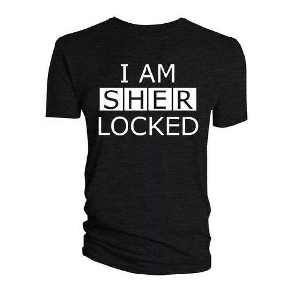 Sherlock - I am Sherlocked Men's Small T-Shirt - Black