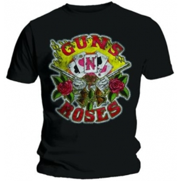 Guns N Roses Cards Mens Black T Shirt: Medium