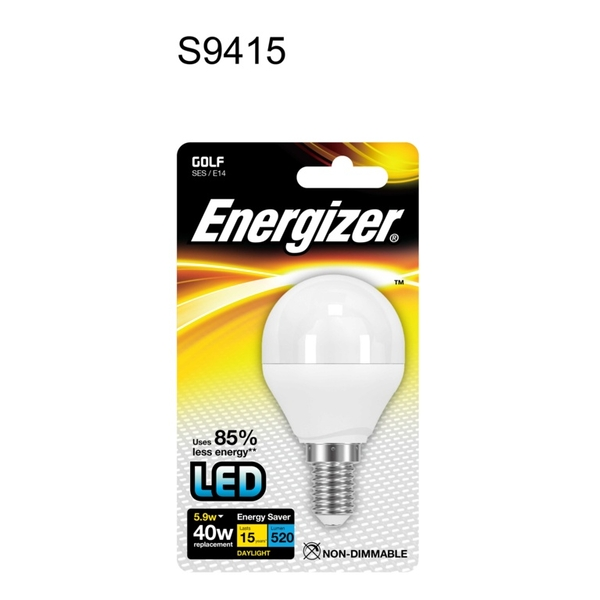 Energizer LED Golf 470lm Daylight Opal SES 5.9w