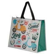 Scooter Speed King Design Durable Reusable Shopping Bag