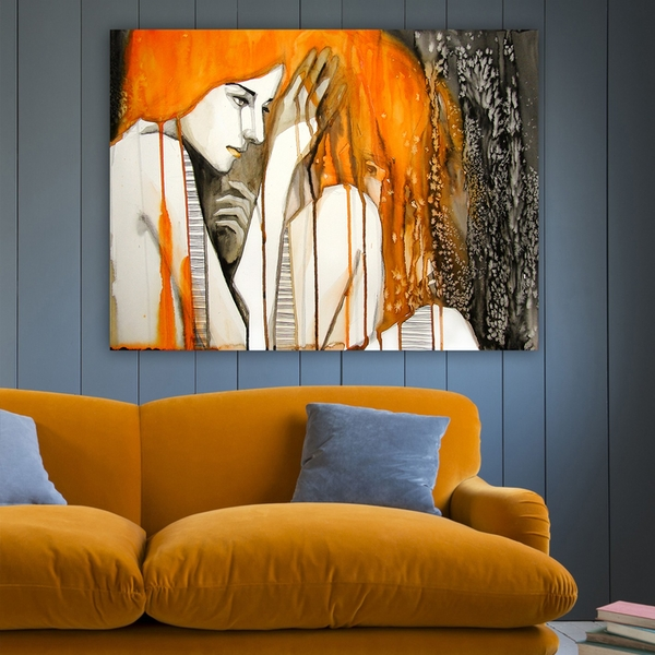 110674118_70100 Multicolor Decorative Canvas Painting Abstract Women