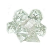 Translucent Poly 7 Dice Set Clear