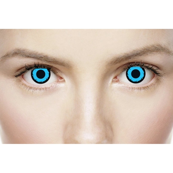 Angelic Blue 1 Day Halloween Coloured Contact Lenses (MesmerEyez XtremeEyez) - Image 4